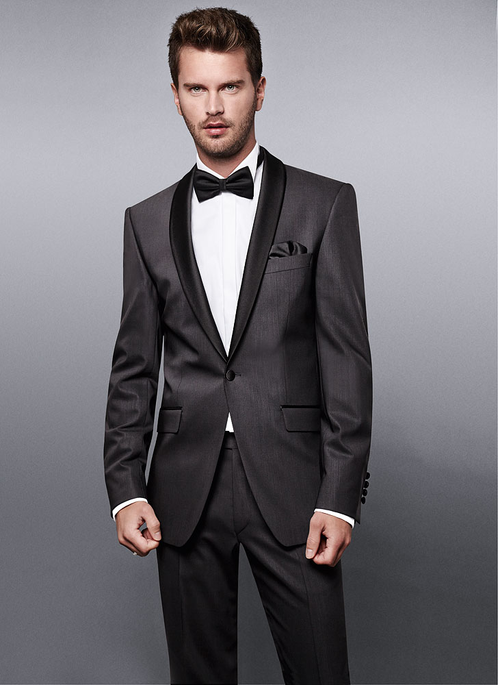 SB1 Satin Shaw Collar Black Dinner Suit - Kurt Muller Man